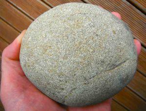 "A humble cobble of greywacke, picked up on <a title=""Mondillo Vinyards"" href=""http://www.mondillo.com/"">Mondillo Vinyards, </a>Bendigo, Central Otago."