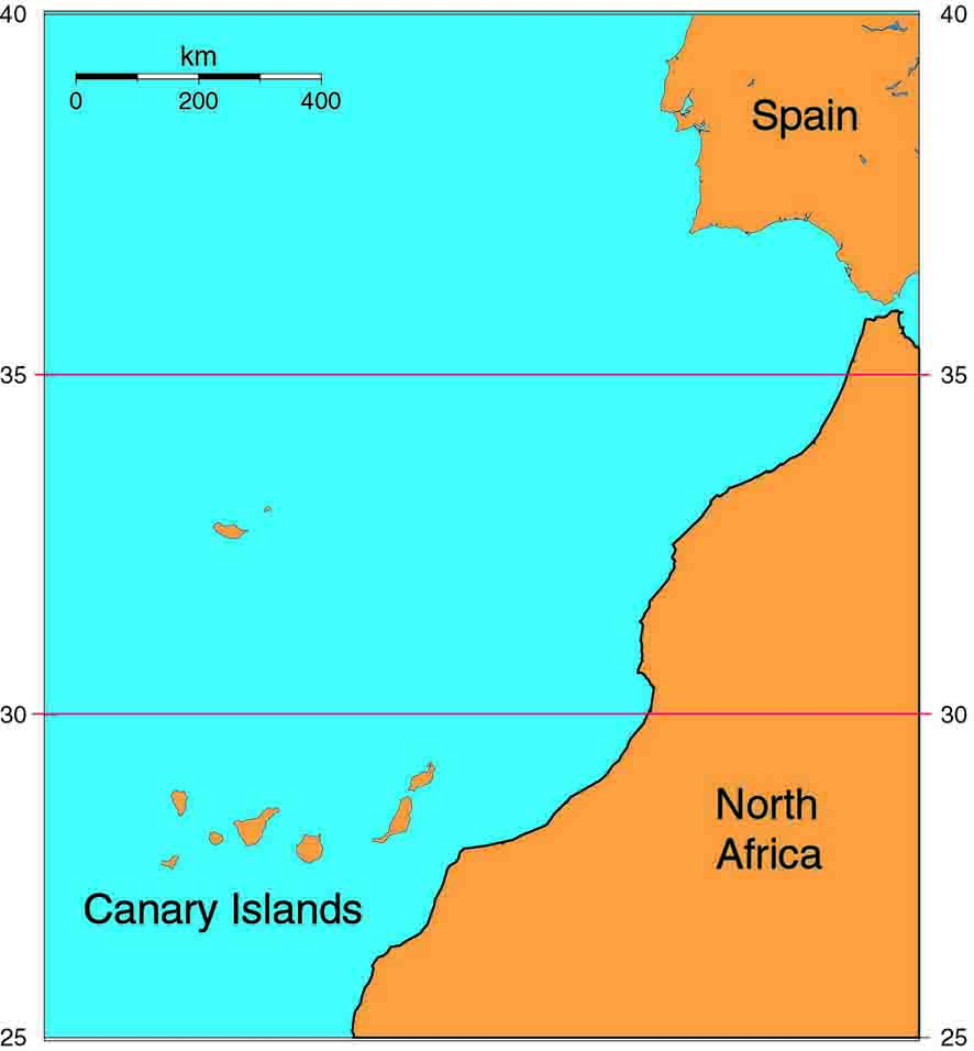 Canary Island Map With Airport